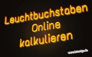 leuchtbuchstaben kaufen kalkulieren preise konfigurator ebay Kleinanzeigen