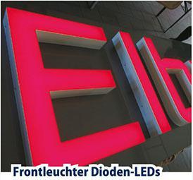 Ein Trend der digitalen programmierbaren LED-Leuchtbuchstaben mit Logo